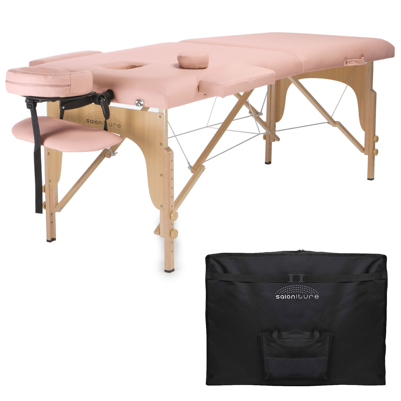 Professional Portable Folding Massage Table with Carrying Case - Pink